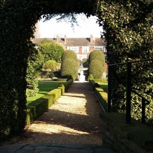 Formal garden along Thames at Richmond